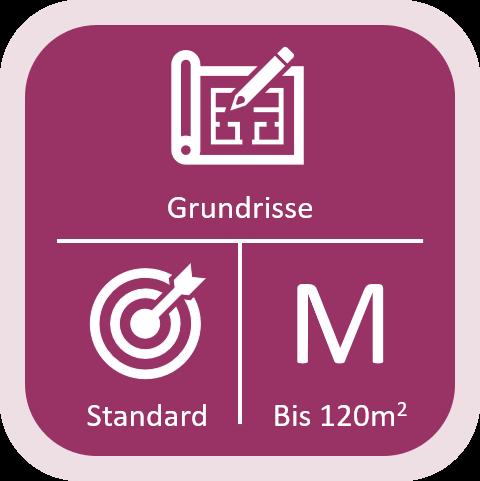Immobilien Grundriss Standard bis 120qm