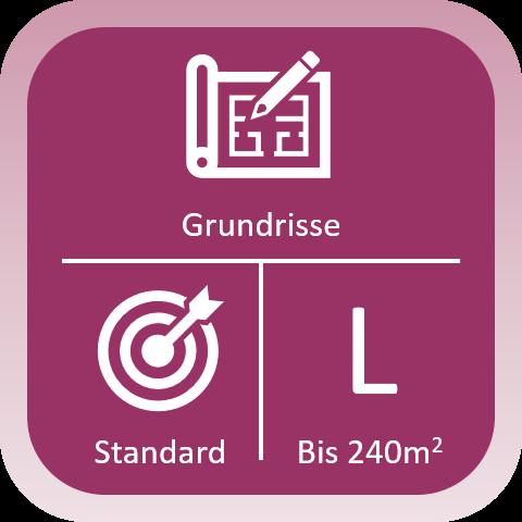 Immobilien Grundriss Standard bis 240qm