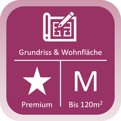Immobilien Grundriss und Wohnfläche Premium bis 120qm
