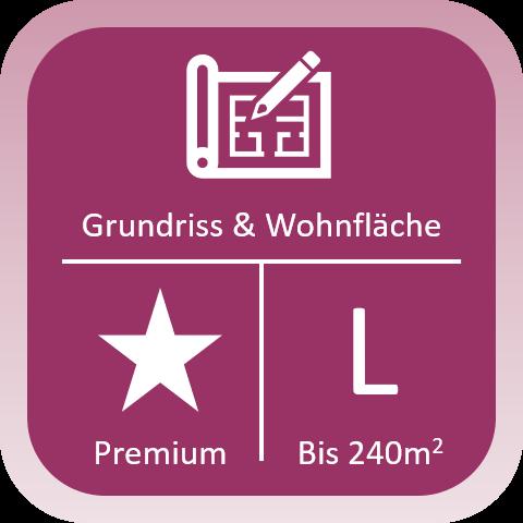Immobilien Grundriss und Wohnfläche Premium bis 240qm