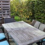 Reihenhaus Terrasse mit Gartenteil