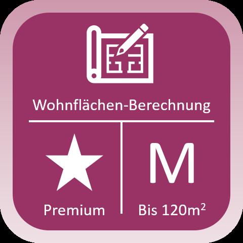 Wohnflächen-Berechnung Premium bis 120qm