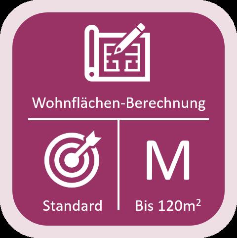 Wohnflächen-Berechnung Standard bis 120qm