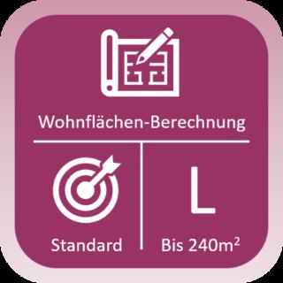 Wohnflächen-Berechnung Standard bis 240qm